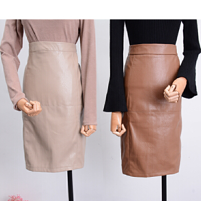 C0FSK30秋冬韩版新款高腰后中拉链开叉半身裙潮 发货周期:一般在付款后2-90天左右发货,具体发货时间请以与客服协商的时间为准