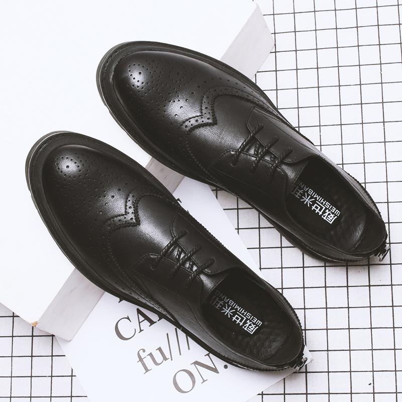 秋冬男士韩版英伦商务休闲皮鞋潮流青年 布洛克雕花低帮鞋子 一般在付款后3-90天左右发货,具体发货时间请以与客服协商的时间为准