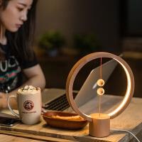智能平衡磁吸半空开关LED台灯阅读小夜灯卧室