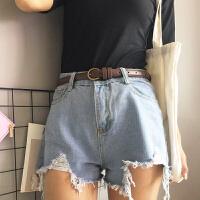 复古学生小皮带简约百搭bf风装饰细腰带配裙chic女士牛仔裤带