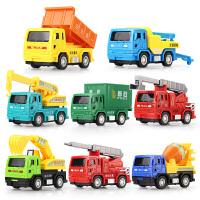 宝宝玩具车男孩回力车拖车翻斗工程车儿童挖土机小汽车挖掘机套装