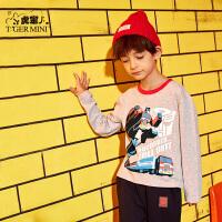 【专区任选3件99元】小虎宝儿男童长袖t恤纯棉中大童秋装上衣2019新款韩版儿童打底衫