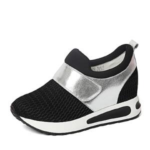 BASTO/百思图春季专柜同款牛皮/网布/弹力布女休闲鞋16A25AM6
