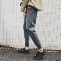 新款冬季配马丁靴的裤子男韩版潮流冬天运动裤收口小脚裤