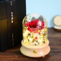 520情人节礼物礼物LED梦幻灯罩花束礼盒创意礼品生日礼物女生送女友男友母节礼物 (蓝牙音箱) 礼盒包装