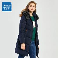 [秒杀价:148.9元,新年不打烊,仅限1.22-31]真维斯女装 冬装新款 时尚连帽羽绒外套