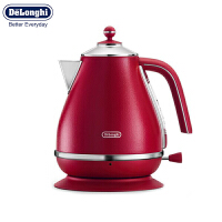 Delonghi/德龙 新品KBOE2001(火焰红)自然元素系列不锈钢大容量电热水壶 自动断电