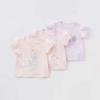 davebella戴维贝拉女童夏季新款T恤 宝宝纯棉短袖上衣DBJ7470