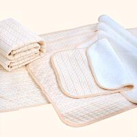 婴儿彩棉隔尿垫儿童可洗姨妈月经床垫宝宝大透气新生尿垫