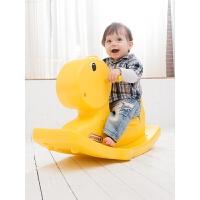 小木马 宝宝骑马玩具0-3岁 6-12个月儿童摇摇马 塑料