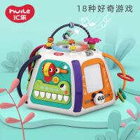 汇乐玩具 D809 探索新天地六面体 婴儿益智玩具儿童游戏桌宝宝玩具桌学习桌