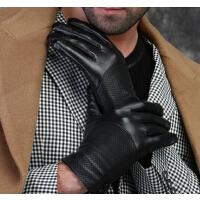 冬季商务头层羊皮保暖简约开车皮手套男加厚男士真皮手套