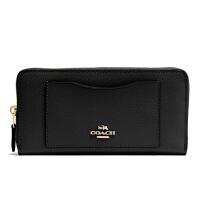 【当当自营】蔻驰(COACH)新款女士交叉纹皮革钱包卡包手拿包  F54007