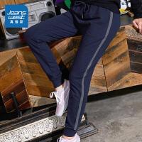 [5折秒杀价:96.8元,双十二提前购,仅限12.9-11]真维斯休闲裤女2019年秋装新款时尚侧骨织带修身束脚慢跑针