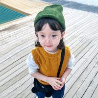 童装宝宝针织马甲春秋薄款女童毛线背心2018新款1-3岁儿童马甲潮