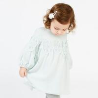 戴维贝拉春装新款女童连衣裙 宝宝公主裙子DB7550