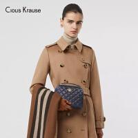 【1件3折,到手价:177元】Clous Krause ck包包女包2019新款时尚百搭斜挎包菱格链条包蜜蜂配饰欧美风