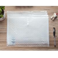 广博透明文件袋 A4塑料按扣袋A6399纽扣袋 档案袋资料袋