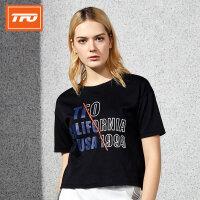 【下单即享7折优惠】TFO 2019年新款 纯棉透气 时尚短款 女款短袖运动T恤