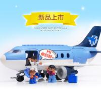 儿童早教智力 大颗粒拼插积木模型飞机拼装玩具