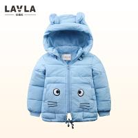 lavla童装2017新款儿童装宝宝冬季女童婴儿棉袄男童夹棉外套棉服