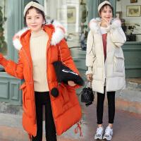 孕妇棉衣女中长款新款韩版宽松怀孕期秋冬季厚棉袄冬装外套