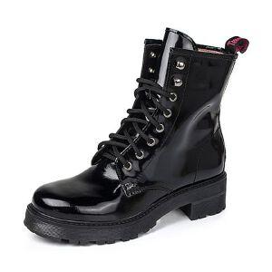 Teenmix/天美意专柜同款黑色光面牛皮女靴6WL41DZ5