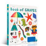 英文原版 Book of Shapes 图形书 幼儿启蒙认知纸板图画书