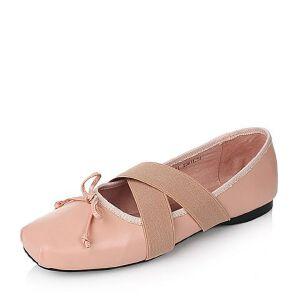 Tata/他她2017年春季羊皮女休闲鞋2JX19AQ7春季新款