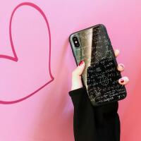 iphone苹果x手机壳玻璃ipx套10男女款情侣壳情侣外壳薄