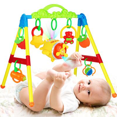 0-1岁新生儿女孩男孩婴儿玩具0-12个月宝宝音乐健身架器