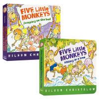 英文原版 Five Little Monkeys Jumping on the Bed BB/Sitting in a