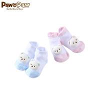 【3件4折 到手价:35】Pawinpaw卡通小熊童装夏款婴幼儿新款男女宝宝同款袜子