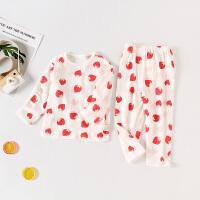 人之初婴儿纯棉秋装打底套装纯棉新生儿衣服春秋季男女宝宝空调服居家睡衣薄