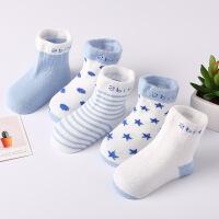 【春夏钜惠 满199-110】5双装 春季纯棉宝宝袜子儿童船袜浅口新生婴儿可爱卡通袜
