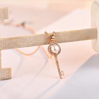 天然珍珠项链女日韩版女生时尚钥匙吊坠可爱配饰品生日礼物