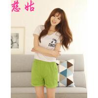 夏季女士糖果色大码打底短裤热裤韩版休闲裤打底短裤