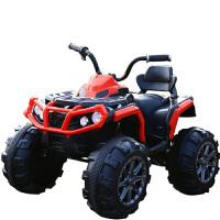 儿童电动车四轮大电瓶越野可坐人的小孩玩具汽车摩托车可坐大人B31 高配红色 脚踏板启动