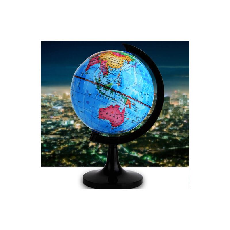 【单件包邮】齐心学生地球仪1001彩色地球仪直径14.2cm地球仪书房摆件