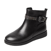 Teenmix/天美意专柜同款牛皮女皮靴AL641DD5 专柜1
