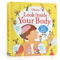 顺丰包邮 进口英文原版绘本 Usborne Look inside Your Body 看里面系列 人体 低幼版 3
