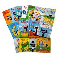 【全店600减200】酷的猫咪皮特猫系列 Pete the Cat 16本套装 幼儿经典英文原版绘本Rocking in