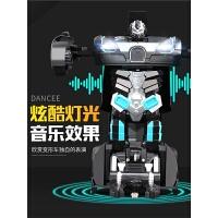 大号遥控车电动赛车无线遥控汽车儿童玩具车感应变形机器人金刚充