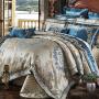 伊迪梦家纺 欧美式高档豪华床上用品四件套六件套八件套十件套 全棉贡缎提花绣花夹棉床罩GZ209