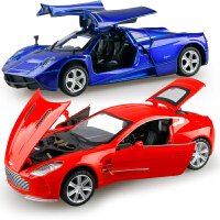 儿童小汽车玩具模型合金玩具车仿真男孩跑车车模兰博基尼回力开门