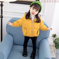 女童棉袄新款冬装外套宝宝加厚小童短款棉衣1-3岁婴儿童羽绒 8343可爱香蕉面包服 黄色