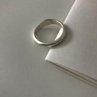 |泰银 手工银 粗圈奶奶的戒指 可调节 泰银粗圈奶奶的戒指 999银