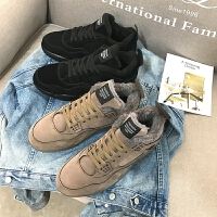 DAZED CONFUSED 潮牌冬季新品潮鞋青少年保暖加绒运动鞋韩版休闲鞋板鞋高帮鞋棉鞋