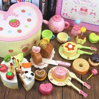 儿童木制切水果玩具蔬菜切切看切切乐男女孩过家家切玩具套装