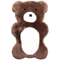 澳洲羊毛考拉地垫动物地垫儿童房间卧室地垫皮毛一体床边毯垫 澳洲考拉垫 100cx60c